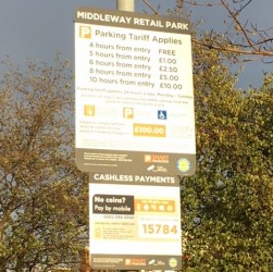 four hours free parking