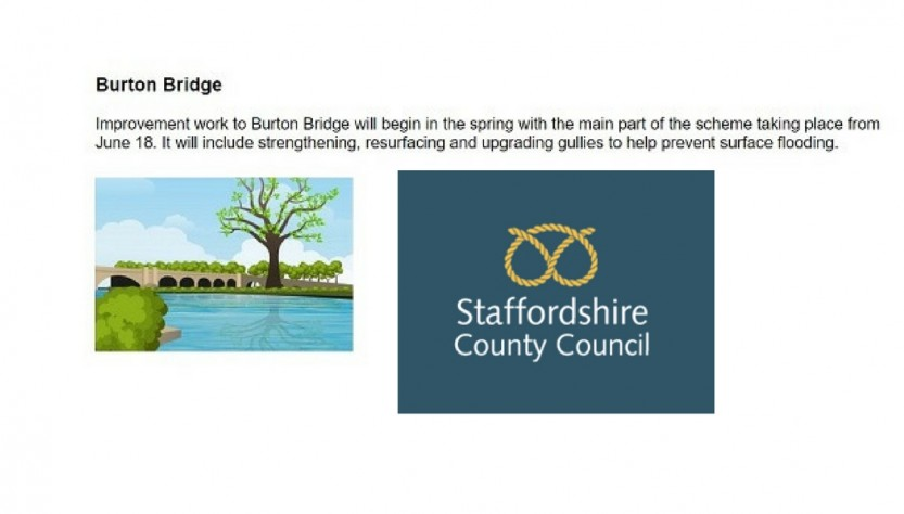 Burton Bridge closure 2018