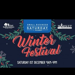 Small Business Saturday winter festival in Burton