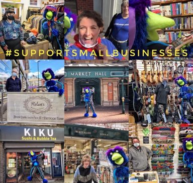 montage pic of small Burton businesses
